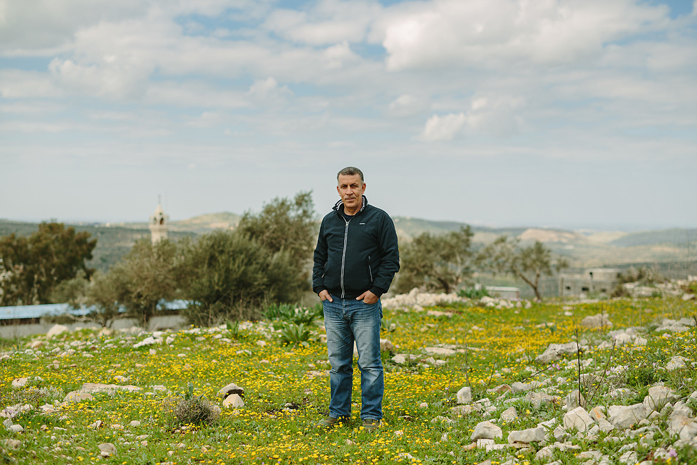 Murad Shteiwi poses for a portrait in the Palestinian village of Kufr Qaddum, West Bank, on February 21, 2020.