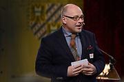 Officiele Huldiging van de Olympische medaillewinnaars Sochi 2014 / Official Ceremony of the Sochi 2014 Olympic medalists.<br /> <br /> Op de foto:  Chef de Mission Maurits Hendriks