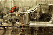 Image of a Porsche 911 chassis car restoration at Canepa, Scotts Valley, California, America west coast by Randy Wells