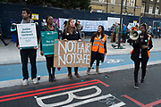 NHS Junior Doctors go on all out strike at the Royal London Hospital, Whitechapel, in a dispute between themselves and the BMA and the Government over the imposition of a new contract on April 26th 2016 in London, United Kingdom. This is the first time that National Health Service staff have withdrawn emergency care as their dispute over terms continues in this latest two day strike action.