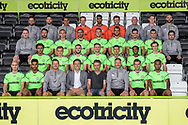 Forest Green Rovers 1st team squad photo 2018/19 with kit suppliers Hummal during the 2018/19 official team photocall for Forest Green Rovers at the New Lawn, Forest Green, United Kingdom on 30 July 2018. Picture by Shane Healey.
