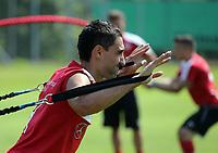 BILDET INNGÅR IKKE I FASTAVTALER<br /> <br /> Fotball<br /> Tyskland<br /> Foto: imago/Digitalsport<br /> NORWAY ONLY<br /> <br /> VfB Stuttgart Österreich, Zillertal, 02.07.2015, 1. Fussball-Bundesliga, Saison 2015/2016, VfB Stuttgart Trainingsalger im Zillertal: Mohammed Abdellaoue.<br /> 02.07.2015