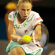 Jelena Dokic on Australia  during her victory over Alisa Kleybanova of Russia at the Australian Tennis Open on January 25, 2009 in Melbourne, Australia. Photo Tim Clayton    .