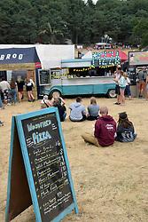 Latitude Festival, Henham Park, Suffolk, UK July 2018. One of the many places to eat.