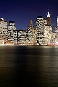 New York, New York. Etats Unis. 21 Decembre 2010.Vue de Manhattan depuis Brooklyn..New York, New York. United States. December 21st 2010.Manhattan view from Brooklyn