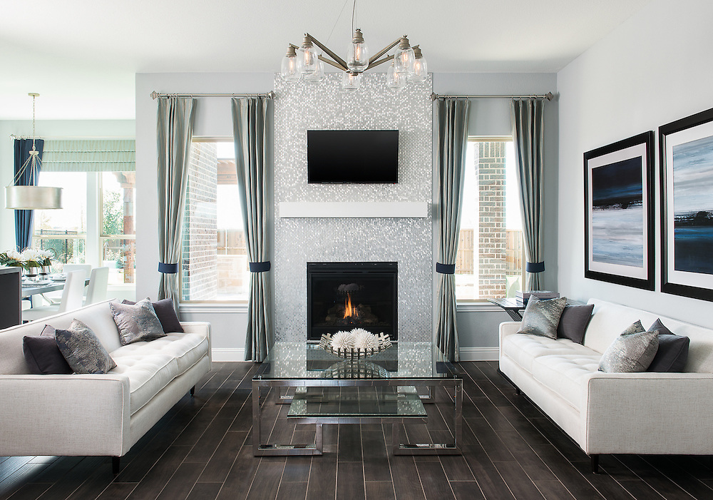 Contemporary living room photography for custom builder and interior designer