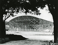 1926 Construction of a new stage at First National Studios, now Warner Bros. Studios