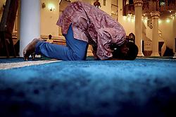 May 27, 2017 - Sao Paulo, Brazil - Muslims perform the 'Tarawih' prayer on the Islamic Holy fasting month of Ramadan at Brazil Mosque (Credit Image: © Dario Oliveira via ZUMA Wire)