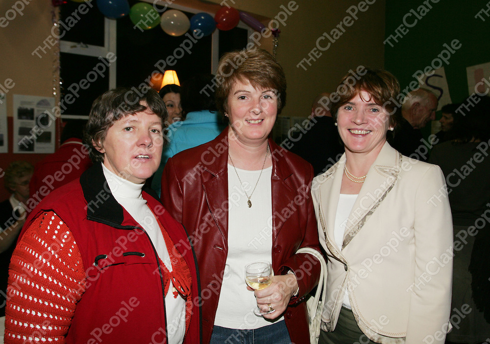 Anne Moloney, Mary McGee and Patricia Duggan at retirement bash for Amy Murphy and Helen Conway at Tulla Community Centre. Pic Sean Curtin Press 22.