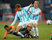 v.l. Fernando, Matthias Lehmann rechts, unten Ailton Bremen<br /> Bundesliga TSV 1860 MŸnchen - Werder Bremen