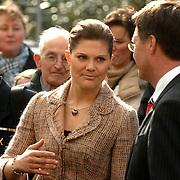 NLD/Lisse/20070321 - Kroonprinses Victoria van Zweden opent de keukenhof 2007 in aanwezigheid van minster president Jan Peter Balkenende