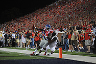 Mississippi Rebels wide receiver Laquon Treadwell (1) makes a catch against Vanderbilt Commodores cornerback Torren McGaster (5) at Vaught-Hemingway Stadium at Ole Miss in Oxford, Miss. on Saturday, September 26, 2015. (AP Photo/Oxford Eagle, Bruce Newman)