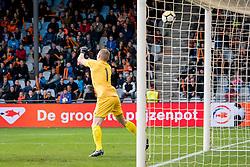 goalkeeper Kurakins Vladislavs of Jong Letland 1-0 during the EURO U21 2017 qualifying match between Netherlands U21 and Latvia U21 at the Vijverberg stadium on October 06, 2017 in Doetinchem, The Netherlands