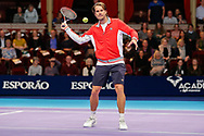 Tommy Haas warmig up before the Champions Tennis match at the Royal Albert Hall, London, United Kingdom on 6 December 2018. Picture by Ian Stephen.
