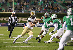 Dec 18, 2020; Huntington, West Virginia, USA; UAB Blazers quarterback Tyler Johnston III (17) runs the ball during the first quarter against the Marshall Thundering Herd at Joan C. Edwards Stadium. Mandatory Credit: Ben Queen-USA TODAY Sports