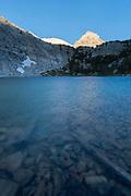 Morning light on mountains above Gem Lake, John Muir Wilderness, Inyo National Forest, California