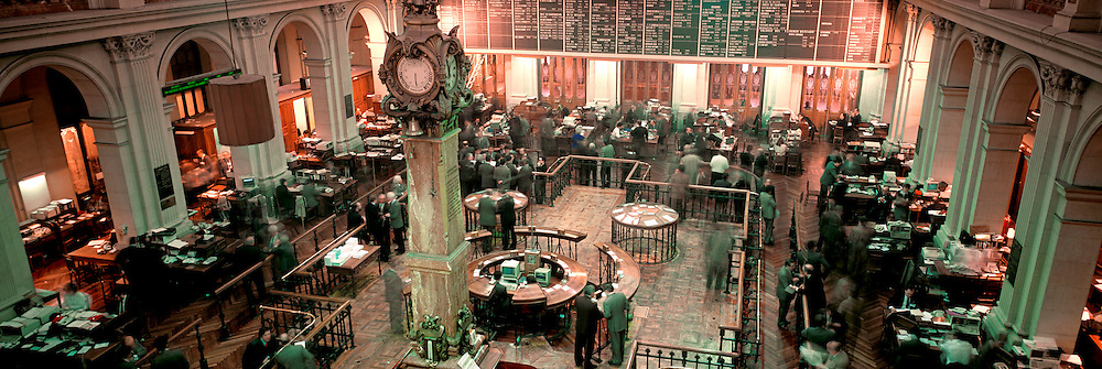 SPAIN, MADRID, ECONOMY, Trading floor of 'Bolsa', Spain's main and most active stock exchange in central Madrid