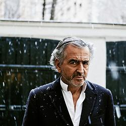 Bernard Henri-Levy, aka BHL, writer, philosopher, in a courtyard. Paris, France. January 22, 2019.<br /> Bernard Henri-Levy, alias BHL, philosophe et ecrivain, dans une cour. Paris, France. January 22, 2019.