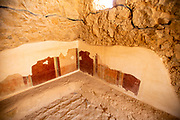 Remains of the Roman bathhouse at Masada national park, Israel
