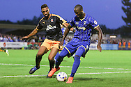 Tom Elliott of AFC Wimbledon during the Sky Bet League 2 match between AFC Wimbledon and Cambridge United at the Cherry Red Records Stadium, Kingston, England on 18 August 2015. Photo by Stuart Butcher.