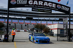 November 2, 2018 - Fort Worth, TX, U.S. - FORT WORTH, TX - NOVEMBER 02: Monster Energy NASCAR Cup Series driver William Byron (24) drives through the garage area during practice for the AAA Texas 500 on November 02, 2018 at the Texas Motor Speedway in Fort Worth, Texas. (Photo by Matthew Pearce/Icon Sportswire) (Credit Image: © Matthew Pearce/Icon SMI via ZUMA Press)