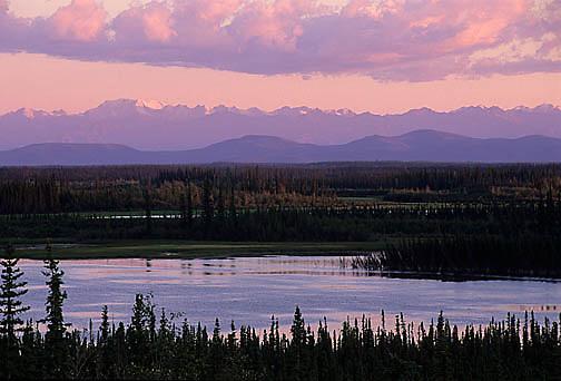 Alaska, Tetlin National Wildlife Refuge. Tanana River.