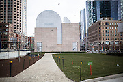 Dewey Square is seen after the 10 weeks of Occupy Boston movement in Massachusetts.