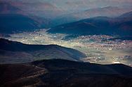 View form Milevi Skali peak to the valley of Velingrad