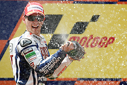 04.07.2010, Montmelo, Barcelona, ESP, MotoGP, Grand Prix von Katalonien im Bild Jorge Lorenzo - Fiat Yamaha team, EXPA Pictures © 2010, PhotoCredit: EXPA/ InsideFoto/ Semedia *** ATTENTION *** FOR AUSTRIA AND SLOVENIA USE ONLY! / SPORTIDA PHOTO AGENCY