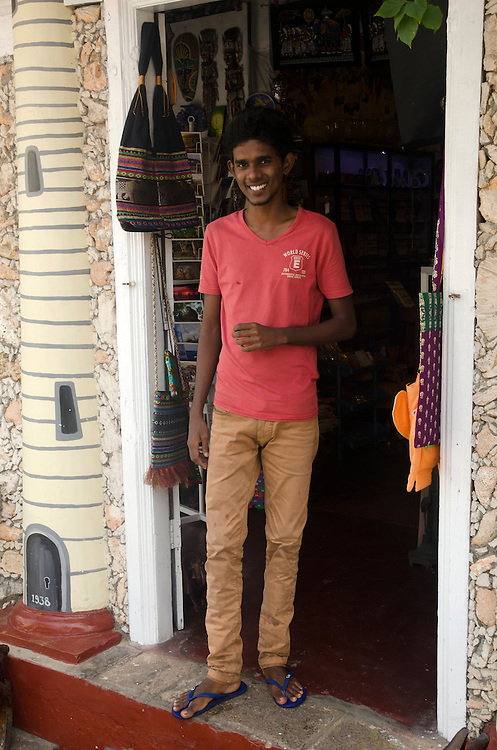 A vendor in a shop, Galle Fort, Sri Lanka