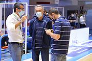 Marino Tullio, Bucchi Piero, Francesco Carotti<br /> Happycasa Brindisi - Virtus Roma<br /> LegaBasket SerieA  2020-2021<br /> Brindisi 04/10/2020<br /> Foto Michele Longo// Camillo-Castoria