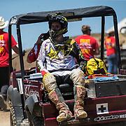 MAY 20, 2017  Rancho Cordova, CA : # 21 Jason Anderson was injured in a crash during the Lucas Oil Pro Motocross Championship 450 class moto # 1 at Hangtown Motocross Classic Rancho Cordova, CA  Thurman James / CSM