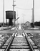 0001-E133A Snow on Southern Pacific Tracks, Brooklyn yards, Portland, December 1951.