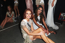 Maëva Coucke, Miss France 2019; and Sylvie Silva, Miss Portugal 2019; backstage during The MISS UNIVERSE® Competition airing on FOX at 7:00 PM ET on Sunday, December 8, 2019 live from Tyler Perry Studios in Atlanta. Contestants from around the globe have spent the last few weeks touring, filming, rehearsing and preparing to compete for the Miss Universe crown. HO/The Miss Universe Organization