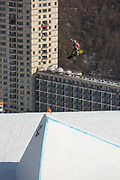 Staale Sandbech, Norway, during the mens snowboard slopestyle finals at the Pyeongchang Winter Olympics on the 11th February 2018 in Phoenix Snow Park in South Korea