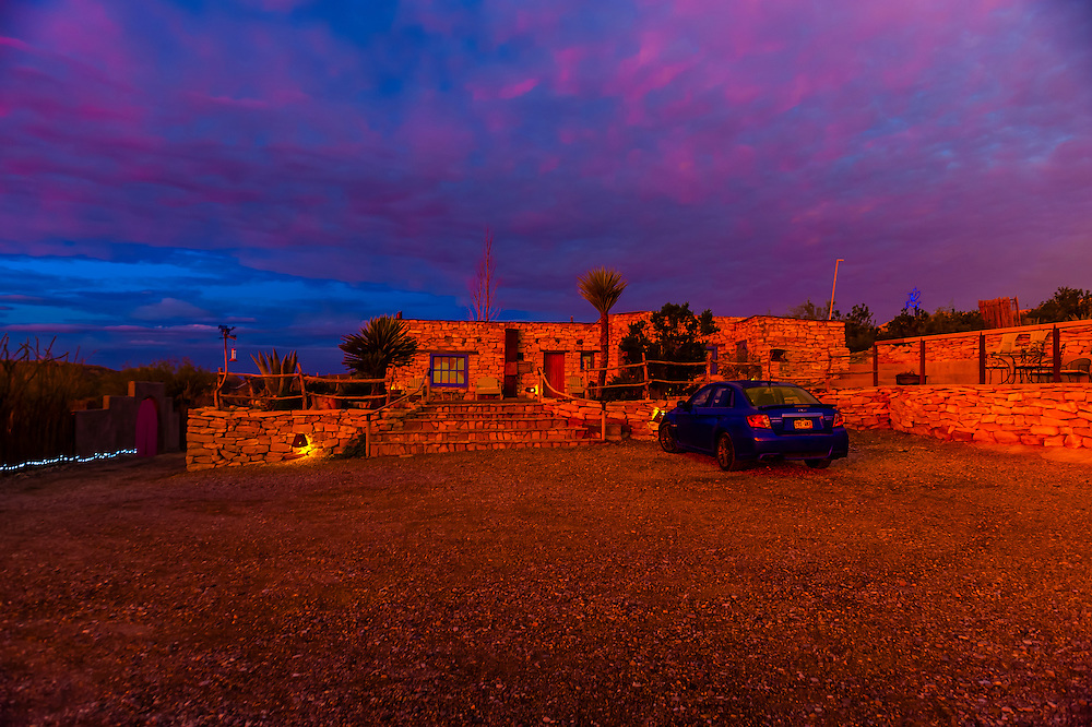 La Posada Milagro, a guest house in the Terlingua Ghosttown, near Big Bend National Park, Texas USA.