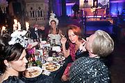LUCY FERRY; HEATHER KERZNER;( BACKGROUND)  ANDREA DELLAL; PHILIP TREACY, Amanda Eliasch birthday dinner. North Audley st. London. 12 May 2010. -DO NOT ARCHIVE-© Copyright Photograph by Dafydd Jones. 248 Clapham Rd. London SW9 0PZ. Tel 0207 820 0771. www.dafjones.com.