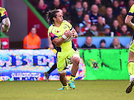 Sale player Tj Ioane in action during the first half during the Aviva Premiership match between Harlequins and Sale Sharks at Twickenham Stoop, Twickenham, United Kingdom on 7 January 2017. Photo by Ian  Muir.during the Aviva Premiership match between Harlequins and Sale Sharks at Twickenham Stoop, Twickenham, United Kingdom on 7 January 2017. Photo by Ian  Muir.