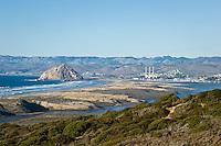 Scenic View of Morro Bay Across Sand Spit, Montana de Oro State Park, California