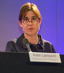 © Licensed to London News Pictures. 26/06/2014. LONDON. KATE LAMPARD. The Lampard Report Press Conference.  An independent oversight of NHS and Department of Health investigations into matters relating to Jimmy Savile. Photo credit : Graham Eva/LNP