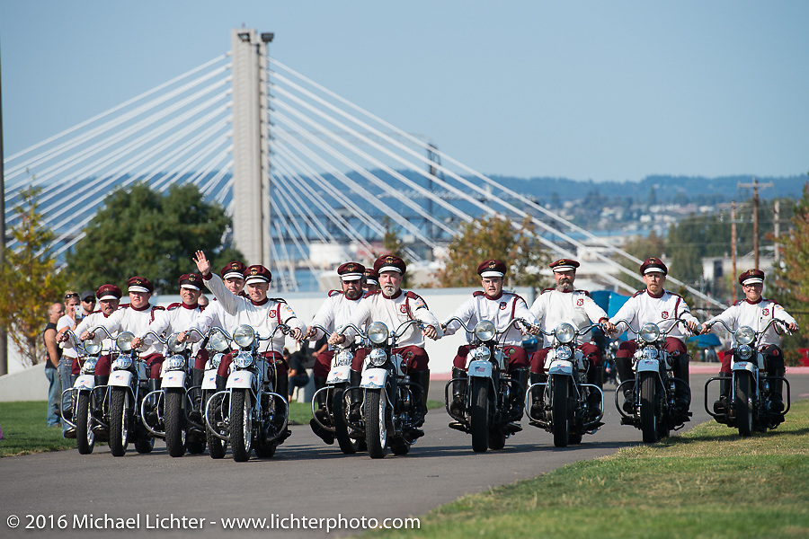 The Seattle Cossacks performing at the Lemay Museum after the finish during Stage 16 (142 miles) of the Motorcycle Cannonball Cross-Country Endurance Run, which on this day ran from Yakima to Tacoma, WA, USA. Sunday, September 21, 2014.  Photography ©2014 Michael Lichter.