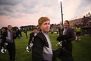 The Oregon High School Marching Band performs for the first time of the season in Oregon, Wisconsin on June 23, 2010.