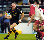 Wycombe. GREAT BRITAIN, 24th October 2004 <br /> Heineken Cup Rugby, London Wasps v Biarritz,  Adams Park, ENGLAND. Photo, Peter Spurrier/Intersport-images]<br /> Lawrence Dallaglio.<br /> ,