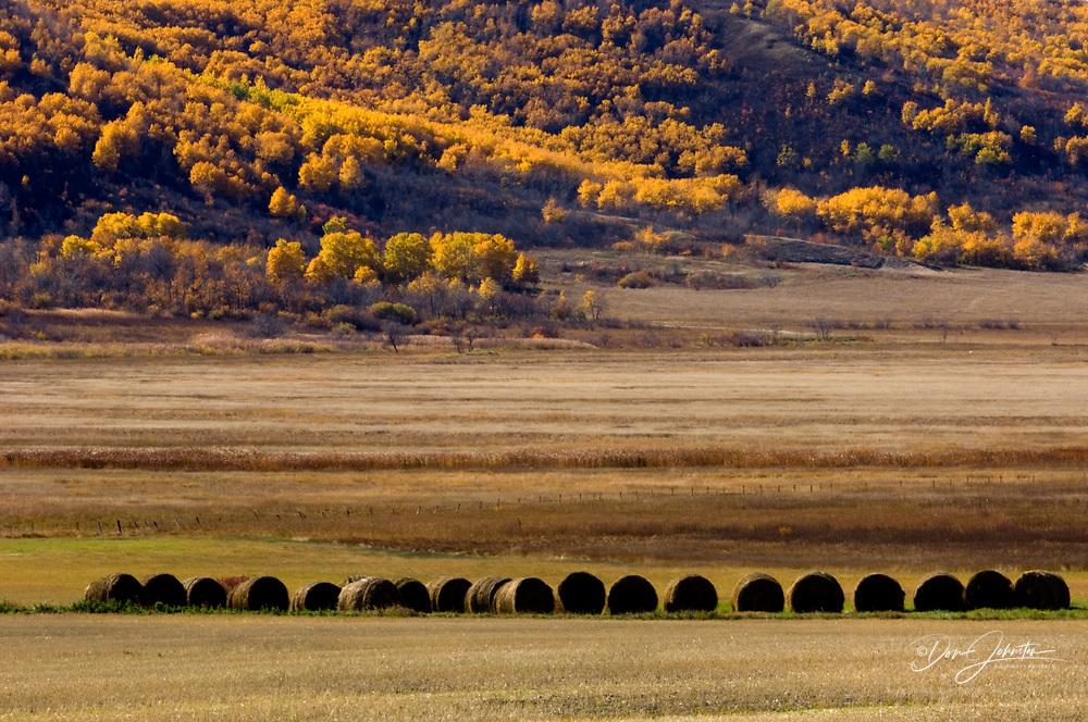 Qu'Appelle Valley agricultural scenic, Qu'Appelle Valley, Saskatchewan, Canada