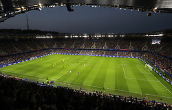 A general view of match action during the FIFA Women's World Cup, Quarter Final, at Stade Oceane, Le Havre, France.