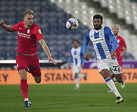 Huddersfield Town's Fraizer Campbell in action with  Birmingham City's Marc Roberts<br /> <br /> Photographer Mick Walker/CameraSport<br /> <br /> The EFL Sky Bet Championship - Huddersfield Town v Birmingham City - Tuesday 2nd March 2021 - The John Smith's Stadium - Huddersfield<br /> <br /> World Copyright © 2020 CameraSport. All rights reserved. 43 Linden Ave. Countesthorpe. Leicester. England. LE8 5PG - Tel: +44 (0) 116 277 4147 - admin@camerasport.com - www.camerasport.com