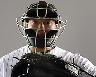 GLENDALE, ARIZONA - FEBRUARY 21:  Zach Collins #38 of the Chicago White Sox poses for a portrait during White Sox photo day on February 21, 2019 at Camelback Ranch in Glendale Arizona.  (Photo by Ron Vesely)  Subject:  Zach Collins