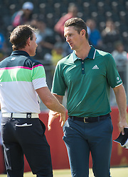 December 10, 2016 - Hong Kong, Hong Kong SAR, China - Justin Rose ends in 47th position at the end of the 3rd round of play.Rose shakes Brett Rumford's hand.Day 3 of the Hong Kong Open Golf at the Hong Kong Golf Club Fanling..© Jayne Russell. (Credit Image: © Jayne Russell via ZUMA Wire)