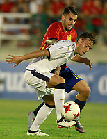 Spain's Dani Ceballos (r) and Italy's Murgia during international sub 21 friendly match. September 1,2017.(ALTERPHOTOS/Acero)
