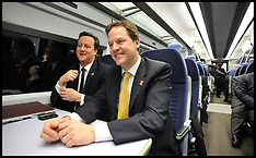 The Pm and DPM on a Train with The Cabinet